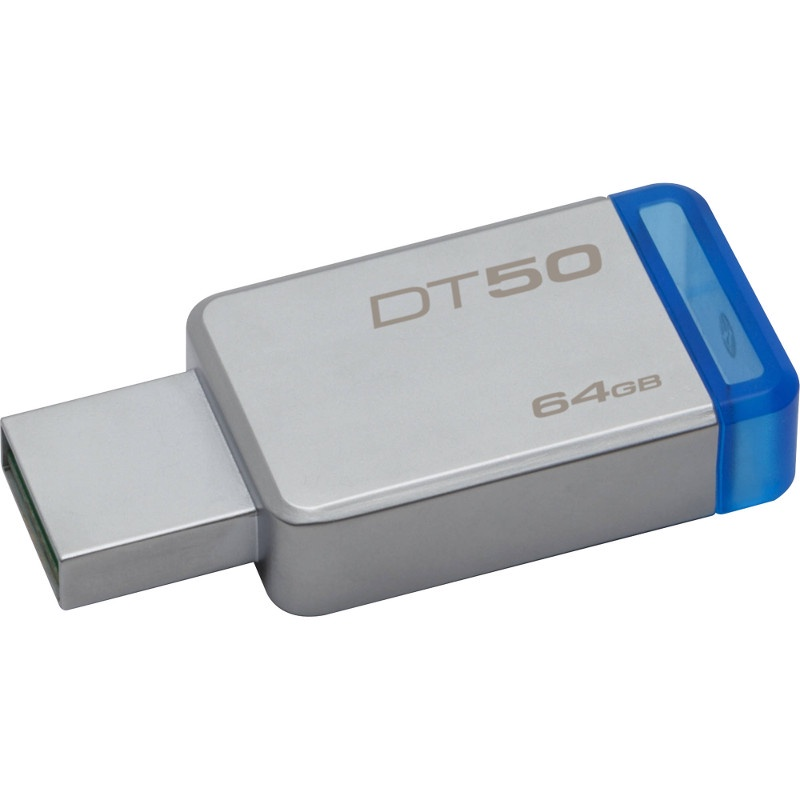 Флеш-драйв 64GB Kingston DataTraveler 50, USB 3.0, Металл/Синий (DT50/64GB)